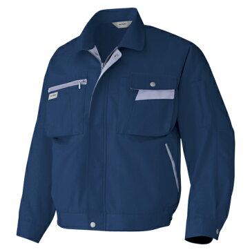 【まとめ買い10個セット品】 作業服 長袖ブルゾン 6321−008 LL ネイビー×ミストバイオレット