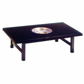 ガス式鍋物テーブル テーブル型 共張 1口コンロタイプ プロパン(LPガス)【 業務用 】