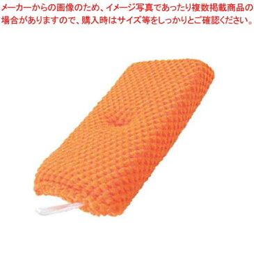 【まとめ買い10個セット品】 アクリルキッチンスポンジ オレンジ