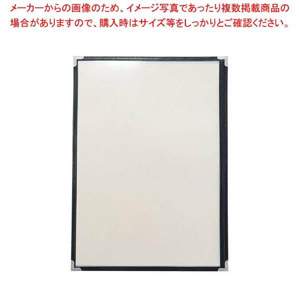 【まとめ買い10個セット品】 クイックメニューブック QM-300 6ページ ブラック 【 メニューブック メニュー表 業務用 】