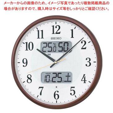 【まとめ買い10個セット品】 セイコー カレンダー温湿度表示付掛時計 電波クロック KX383B【 店舗備品・インテリア 】