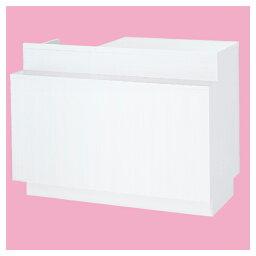 一体型カウンターW120cm照明付きホワイト 【 店舗什器 レジ台・カウンター レジ台 一体型レジ台 照明付き 】