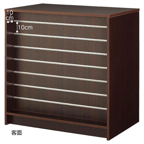 木製パネルカウンター W90cm ダークブラウン 【メーカー直送/代金引換決済不可】