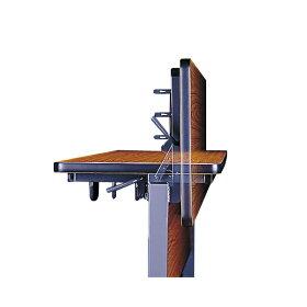 跳ね上げ式会議テーブル〔幕板付き〕〔チーク〕SHT-1560M〔TE〕【受注生産品】【メーカー直送品/決済】