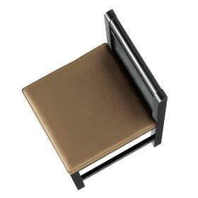 富士N椅子茶レザー張地:クレンズII6297シンコール