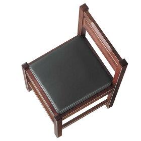 阿山D椅子黒レザー張地:オールマイティー6416シンコール
