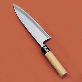 『和包丁出刃包丁』SA佐文[木製サヤ付]19.5cm片刃