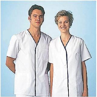 女性用デザイン白衣 半袖 FA-349LL メイチョー