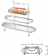UK18−8 3段小判ケーキスタンドA[ケーキスタンド関連品]【食器 ケーキスタンド ハイティース...