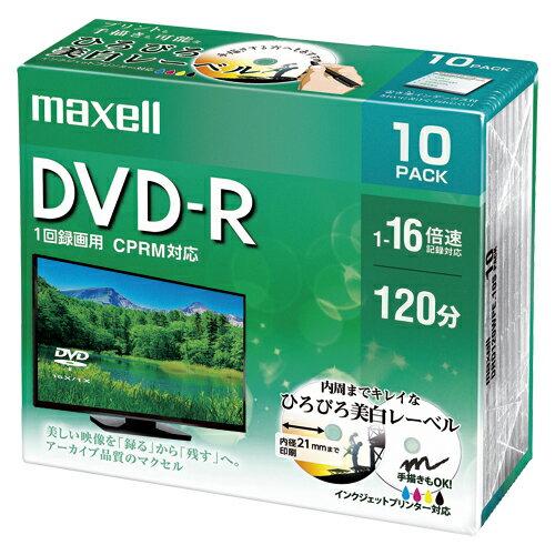 録画用 DVD-R テレビ録画用1回録画タイプ DVD-R 1-16倍速対応 DRD120WPE.10S 【メイチョー】