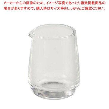 【まとめ買い10個セット品】ガラス ミルクピッチャー #60 大 100ml スキ【 カフェ・サービス用品・トレー 】 【メイチョー】