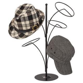 帽子5点掛けスタンド黒【メーカー直送/代金引換決済不可】店舗什器、ディスプレー、マネキン、装飾品、販促用品、ハンガー、ラッピング、飲食店備品なら開業プロメイチョー