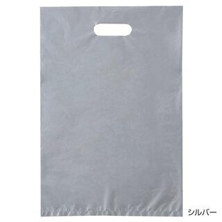 ポリ袋ハード型カラーシルバー50×60500枚【店舗什器小物ディスプレーギフトラッピング包装紙袋消耗品店舗備品】