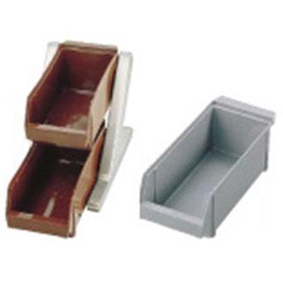 『 カトラリーボックス オーガナイザー 』SA18-8デラックス オーガナイザー 2段1列[2ヶ入] グレー