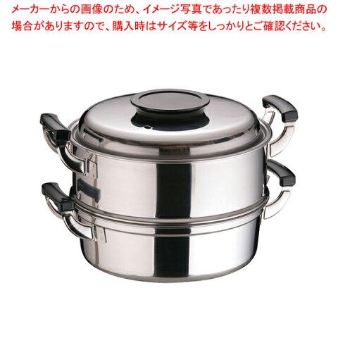 桃印18-0丸型蒸器 27cm 2段【 和セイロ 和蒸籠 】 【メイチョー】