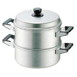 【 業務用 】アルマイト蒸し器スチームクッカー[丸型] 24cm 一重 【 和セイロ せいろ セイロ 蒸篭 蒸し器 】