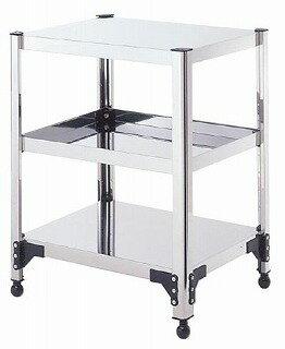 【 業務用 】両面棚ワゴンアジャスター付 T7W-13:業務用厨房機器の飲食店厨房館