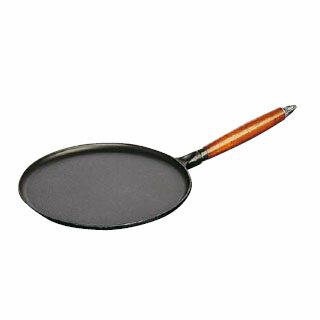 【 業務用 】ストウブ 木柄クレープパン 1212823 28cm 【 クレープパン浅型フライパン 】