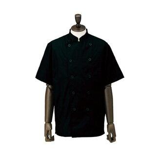 業務用 コックシャツ・ダブル SBK3800-2 男女兼用 ブラック S