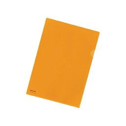 カラークリヤーホルダー A4判 F-78-4 橙 【厨房館】