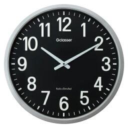 電波掛時計 GDK-001K 黒 【厨房館】