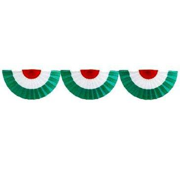 【 業務用 】オープン幕 三連オープン幕 カラー:赤白緑 生地:ブロード 90cm×180cm