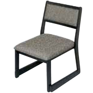 【業務用】木製都高座椅子新翁(布)フレーム黒12017595