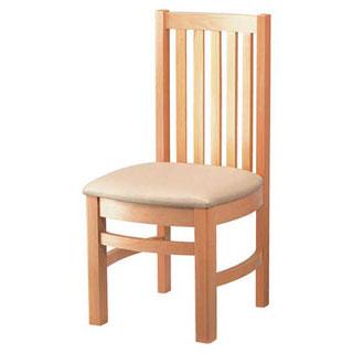【まとめ買い10個セット品】【 業務用 】椅子 白木 9-129-17