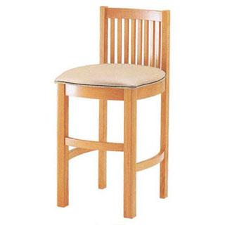 【まとめ買い10個セット品】【 業務用 】椅子 白木 9-137-5