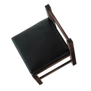 八宝D椅子黒レザー張地:クレンズII6291シンコール