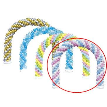 【まとめ買い10個セット品】 バルーンアーチセット 白×ピンク×ライトブルー【販促用品 ポスター POP ディスプレー 店舗備品】【厨房館】