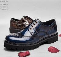 イタリアのレトロメンズ大潮シンプル本革シューズ[靴紳士靴メンズカジュアルシューズ本革シューズ会社用プレゼント用]