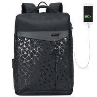 【送料無料】OKING(アオキング)人気黒USBポート搭載多機能バックパック登山リュック通勤用ビジネスバッグ高校生通学おしゃれ大容量軽いシンプルビジネスPcリュック