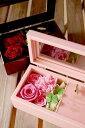 楽天Wish*星に願い・オルゴール箱にアレンジしたプリザーブドフラワー・四つ葉のクローバーを添えて/フラワーギフト/お祝い/花/花電報/誕生日/結婚祝い/プロポーズ/告白/初任給/還暦