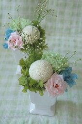 プリザーブドフラワー お供え お盆 仏花 【マラーマ】 お水いらならいので、常花として綺麗にご先祖様にお花を供えることが出来ます。忙しい時や男性の一人暮らし、ご年配の方にはピッタリです。 お悔やみ 自宅用 お盆 お彼岸 新年 正月 命日 月命日 仏壇