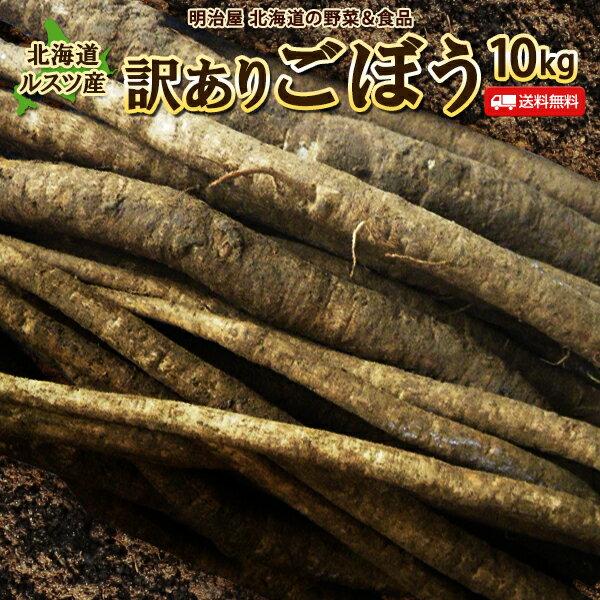 ごぼう 10kg 北海道ルスツ産 土付き 訳あり 混みサイズ  送料込み ごぼう茶 国産 わけあり ワケアリ ゴボー 牛蒡