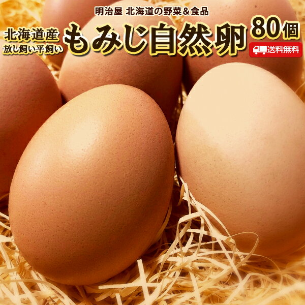 たまご 送料無料 自然卵 80個 北海道産 赤玉鶏 破損保証20個含む 平飼い 放し飼い 送料込み 卵 玉子 タマゴ
