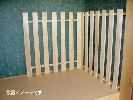 【国産品/ポイント5倍/国産ひのき】押入れ壁面・床面すのこセット木工職人の手作り安心商品