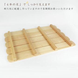 【国産品/天然木】釘なしスノコ(5枚巾)木工職人の手作り安心商品