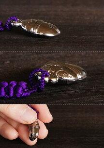 神輿金具ストラップ平鈴(ひらすず)正絹の組紐手作り和雑貨【メール便対応可】