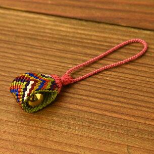 七色根付組紐【正絹】笹波組み