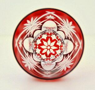 ロックグラス万華鏡切子ロックグラス万華鏡切子-赤