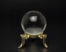 最高品質無傷天然水晶玉31ミリ1寸無色透明天然ロッククリスタル宝石鑑別書・台付き【送料無料】