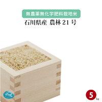無農薬無化学肥料栽培米石川県加賀産農林21号5kg