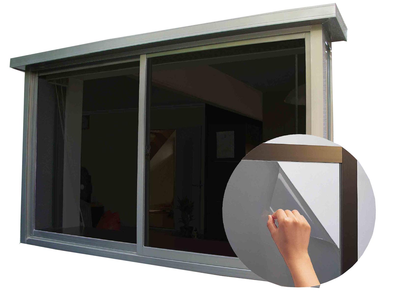 ◇スモーク窓貼りシート(ガラスフィルム)【UV(紫外線)99%カット】【プライバシー保護】【節電】 92x180cm【981010】 ■