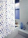 シャワーカーテン バスカーテン カーテン ビニール 風呂 ふろ 防カビ カビ 防水 バスカーテン(シャワーカーテン) RBC-02 (ブルー) 120cm巾x178cm丈