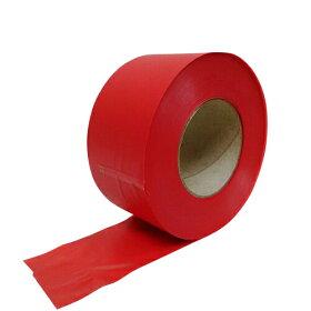 タフニール50mmx100M巻赤カラービニールテープ非粘着テープ目印テープイベント登山マーキングテープ