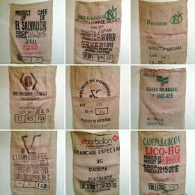 コーヒー豆麻袋