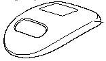 ツインバード部品:蓋/905186 加湿器用〔メール便対応可〕