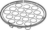 タイガー部品:たこ焼きプレート/CQG1034グリルナベ用